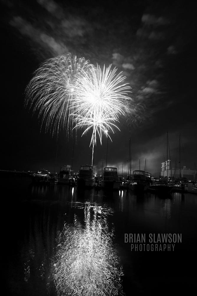 July 4th fireworks at Port Washington Marina 2015