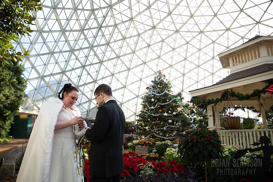 mitchell park domes wedding